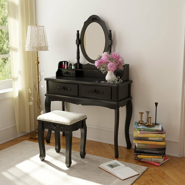 TJ Vanity Set with Mirror by Ophelia & Co.