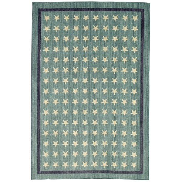 Elijah Nursery Stars Blue Area Rug by Viv + Rae