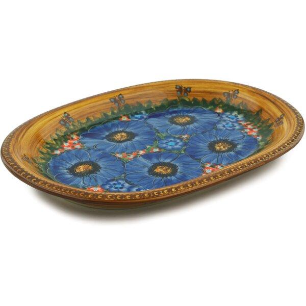 Tropical Wildflowers Oval Platter by Polmedia