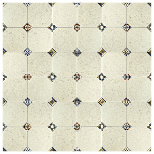 Turia 13.12 x 13.12 Ceramic Field Tile in Cream by EliteTile