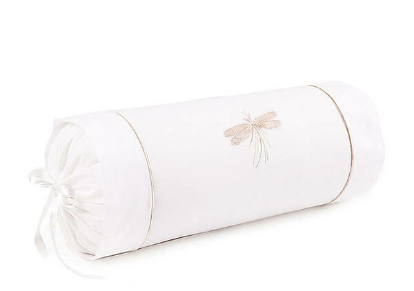 Dragonfly Percale Cotton Bolster Pillow by Jacaranda Living