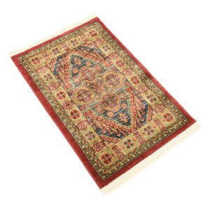 Zoey Red Area Rug