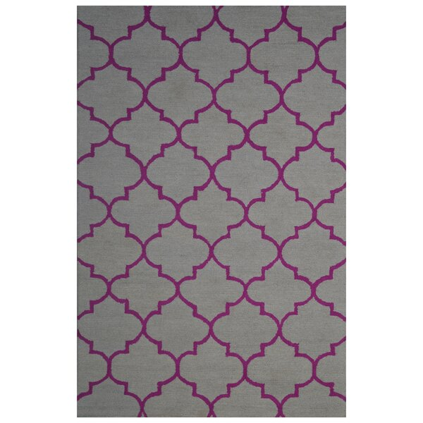 Wool Hand-Tufted Gray/Pink Area Rug by Eastern Weavers