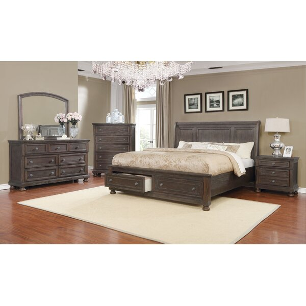 Mapes Queen Sleigh 4 Piece Bedroom Set by Gracie Oaks