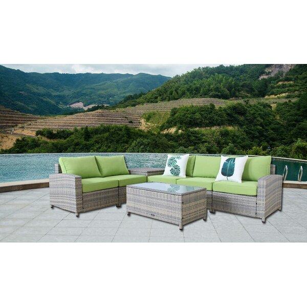 Ingrid 7 Piece Rattan Sofa Set with Cushions by Bayou Breeze