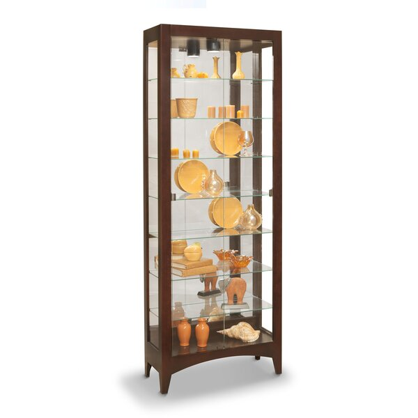 Kalene Lighted Curio Cabinet by Charlton Home Charlton Home