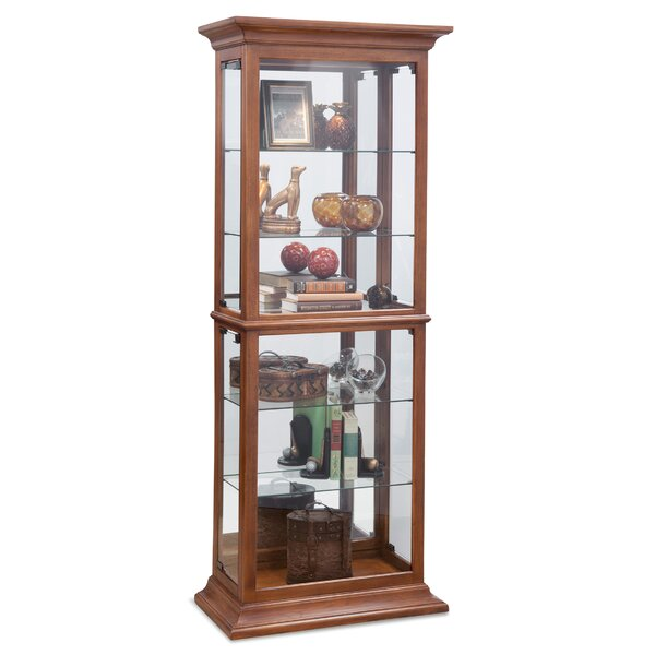Ballew Lighted Curio Cabinet by Alcott Hill Alcott Hill