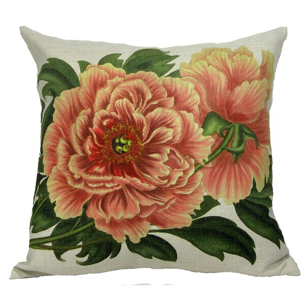 Tree Peony Throw Pillow by Golden Hill Studio