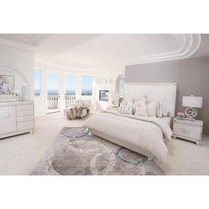 Glimmering Heights Platform 4 Piece Bedroom Set by Michael Amini (AICO)