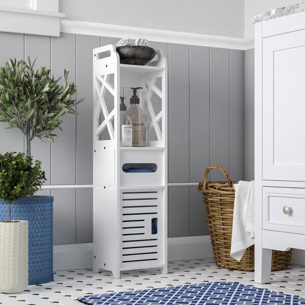 Bathroom Multi Compartment 8 W x 31.5 H Linen Tower by Rebrilliant