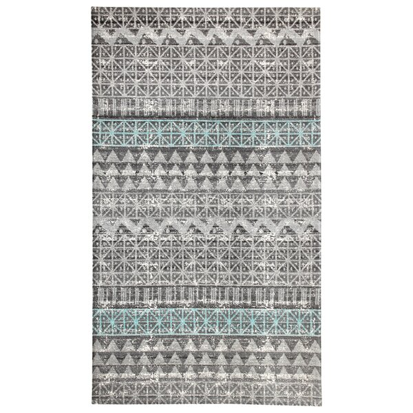 Parkison Hand-Tufted Gray/Blue Indoor/Outdoor Use Area Rug by Bungalow Rose
