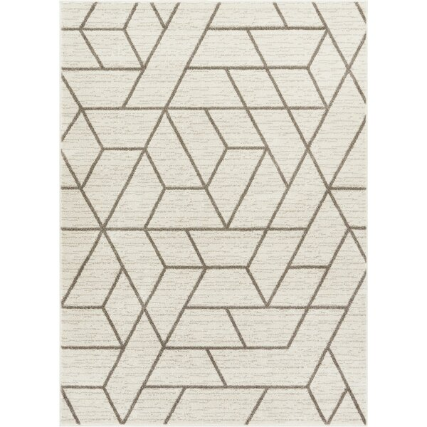 Liang Ivory Area Rug by Wrought Studio