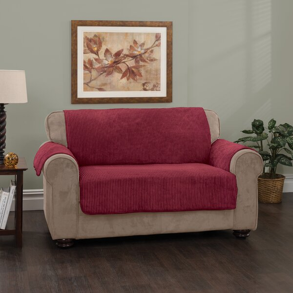 Plush Stripe Box Cushion Loveseat Slipcover by Innovative Textile Solutions