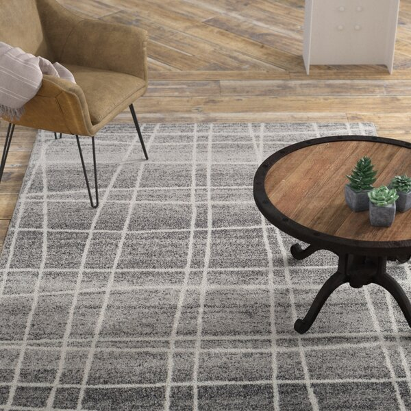 Cateline Distressed Charcoal/Gray Area Rug by Williston Forge