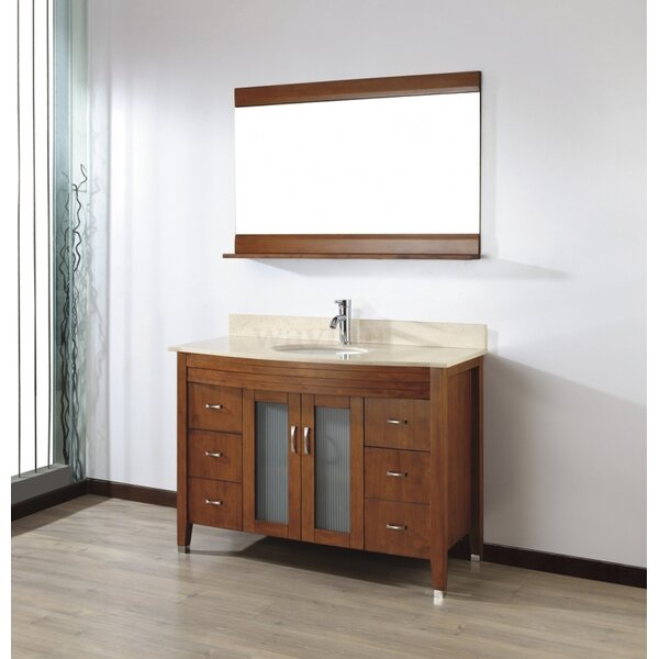 Alfa 48 Single Bathroom Vanity Set with Mirror by Bauhaus Bath