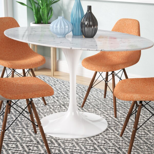 Swarna Oval Artificial Marble Dining Table by Langley Street