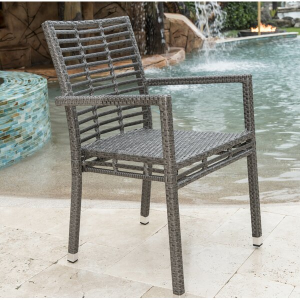 Graphite Stacking Patio Dining Chair by Panama Jack Outdoor