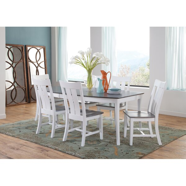 Brussels 7 Piece Extendable Solid Wood Dining Set by August Grove