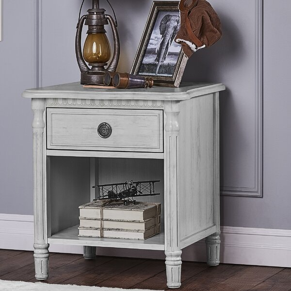 Julienne 1 Drawer Nightstand by Evolur