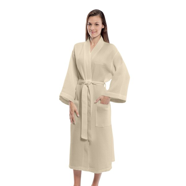 Bathrobe Cotton Blend Waffle Bathrobe by Terry Tow