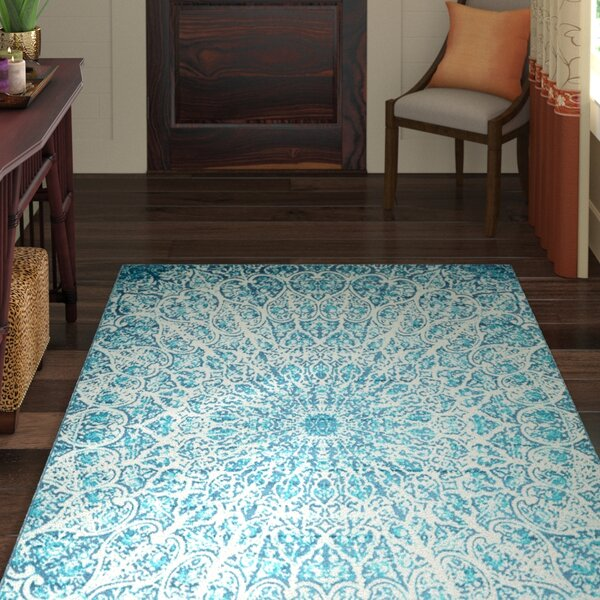 Keswick Turquoise Area Rug by World Menagerie