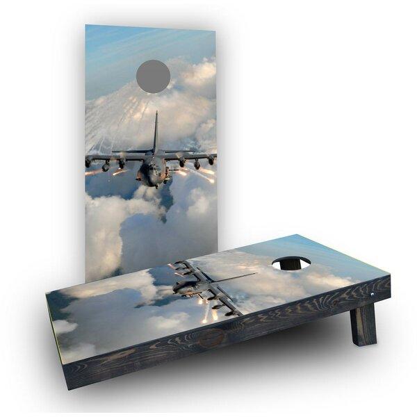 AC130 Flares Cornhole Boards (Set of 2) by Custom Cornhole Boards