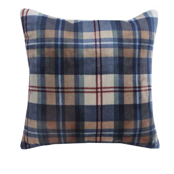 Ethan Plush Sherpa Plaid Throw Pillow by Vellux