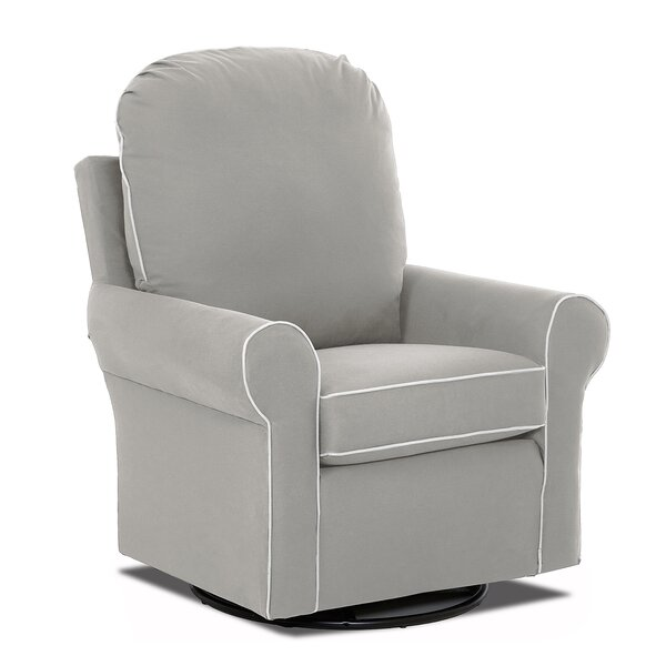 Suffolk Swivel with Contrasting Welt Glider by Klaussner Furniture