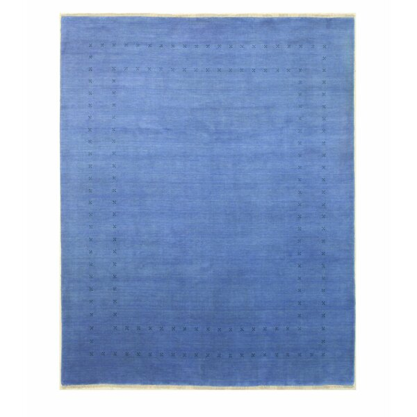 Dreher Hand-Knotted Wool Blue Area Rug by Bloomsbury Market