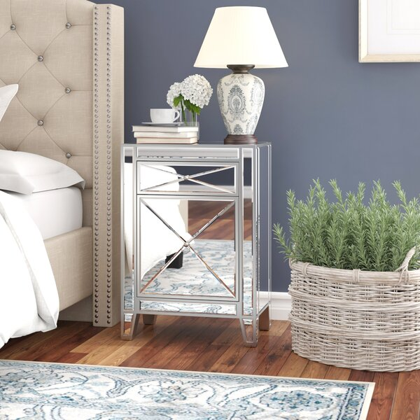 Gallaher 1 Drawer Nightstand by Everly Quinn