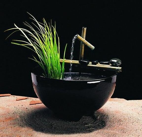 Ceramic Nature Bowl Tabletop Fountain by Nayer Kazemi