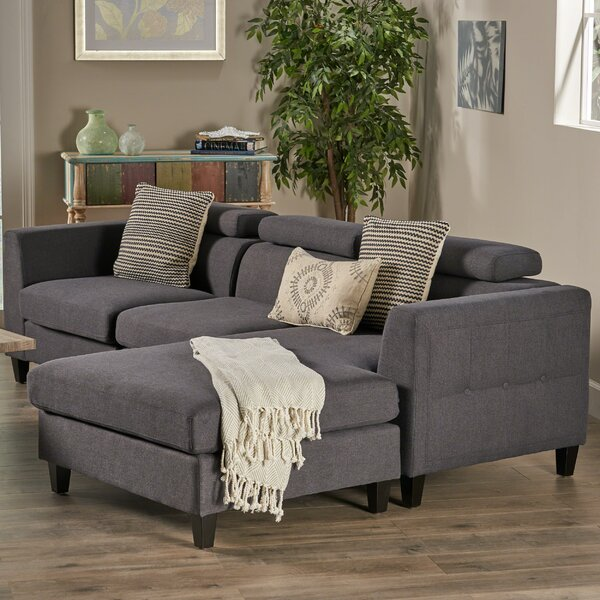 Best #1 Lundberg Modern Deep Seated Chaise Modular Sectional By Ivy Bronx 2019 Sale
