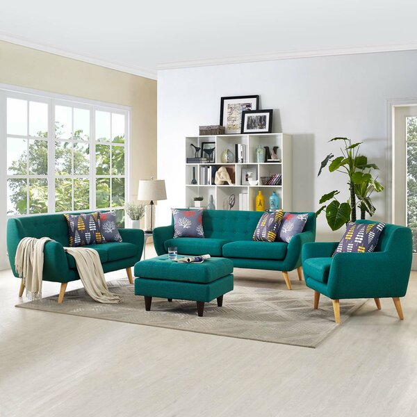 Best #1 Meggie 3 Piece Living Room Set By Langley Street Discount