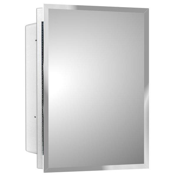 Adaku Recessed Frameless Single Door Medicine Cabinet with 2 Shelves