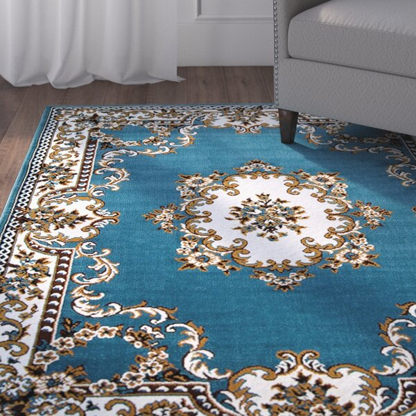 Bellomy Light Blue Area Rug by Charlton Home