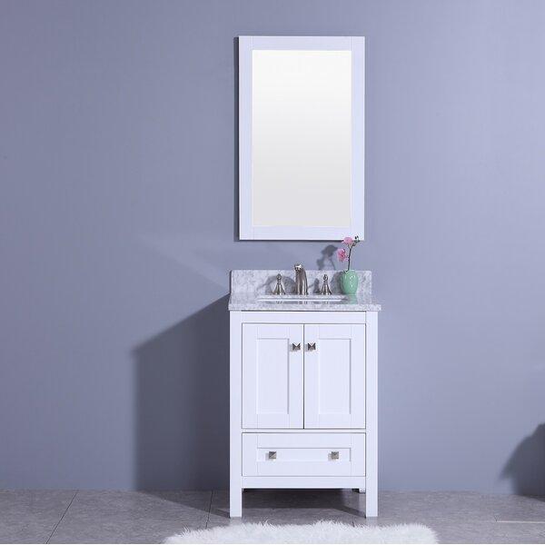 Blueridge 25 Single Bathroom Vanity Set with Mirror by Winston PorterBlueridge 25 Single Bathroom Vanity Set with Mirror by Winston Porter