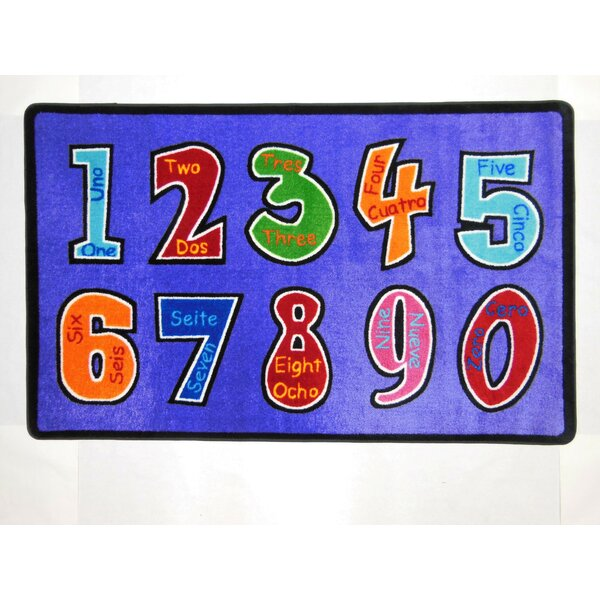Harrietstown Numero Uno Violet Area Rug by Zoomie Kids
