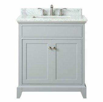 Bhushan Marble Top 31 Single Bathroom Vanity Set by Red Barrel Studio