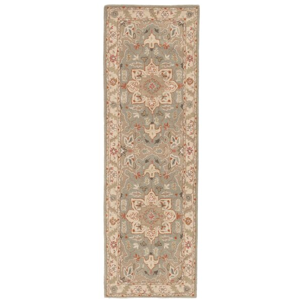 Trinningham Hand-Tufted Wool Blue Surf/Cloud White Area Rug