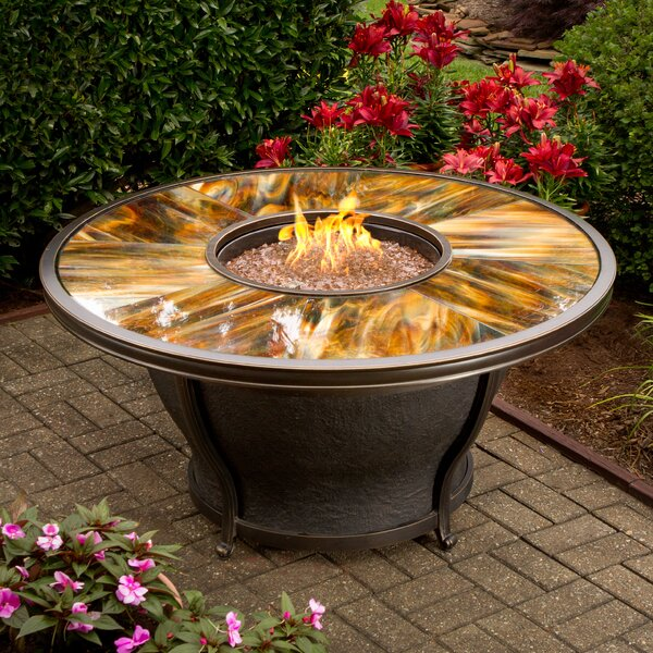 Moonlight Propane Gas Fire Pit Table by Oakland Living