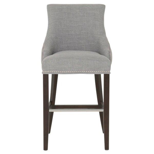 Boronda Upholstered 30 Bar Stool by Canora Grey