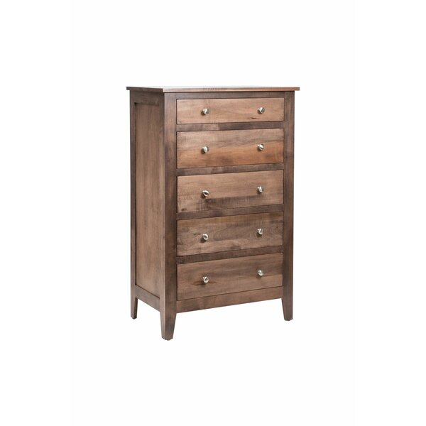 Mccalla 5 Drawer Standard Dresser/Chest by Millwood Pines