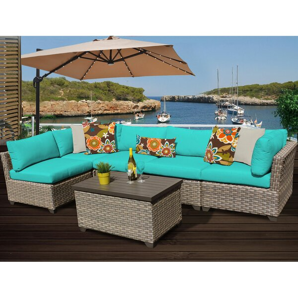 Rochford 6 Piece Sectional Seating Group with Cushions by Sol 72 Outdoor