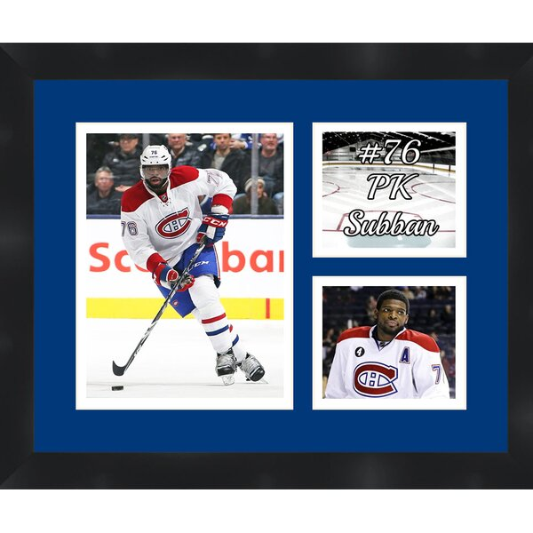 Montreal Canadiens PK Subban 76 Photo Collage Framed Photographic Print by Frames By Mail