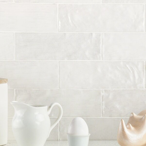 Amagansett 2 x 8 Ceramic Subway Tile in White by Splashback Tile