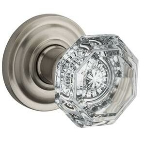 Crystal Single Dummy Door Knob with Traditional Ro