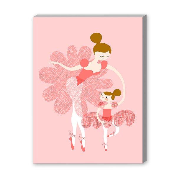 Roseann Ballerina Mother Daughter Paper Print by Viv + Rae