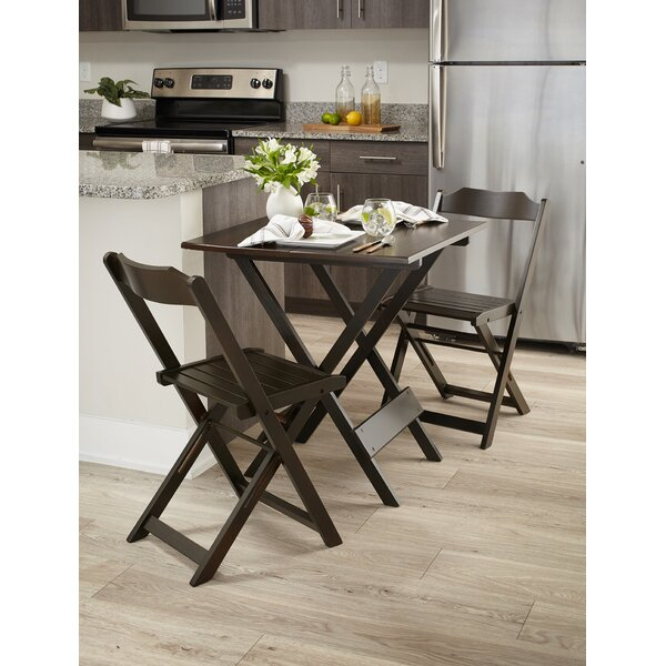 Channing Folding Square 3 Piece Bistro Set by Winston Porter