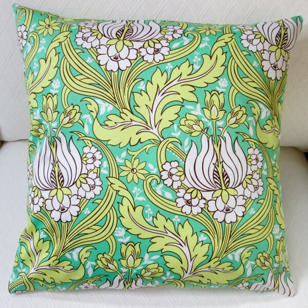 Tulips Indoor Sateen Cotton Throw Pillow by Artisan Pillows
