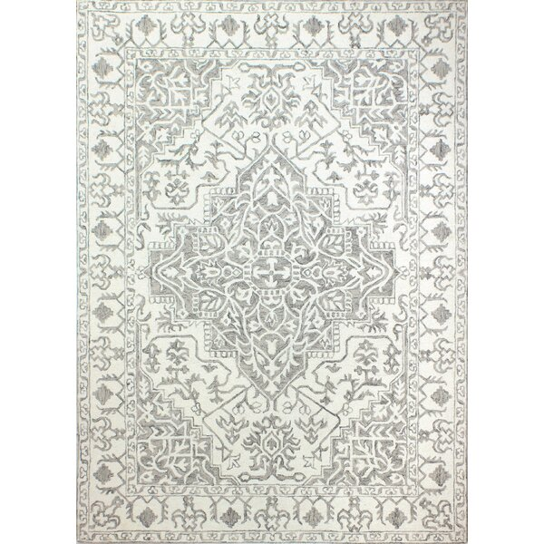 Clarkshire Hand-Tufted Wool Ivory/Taupe Area Rug by Red Barrel Studio